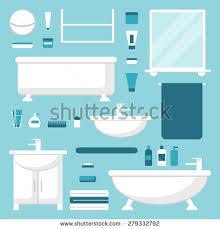 bathroom furniture clipart. bathroom elements set. isolated furniture on background. bathtub, washbasin, mirror, clipart