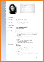 6 A Good Curriculum Vitae Format Time Table Chart