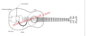 modify acoustic into the electric guitar on fm wireless how to install the circuit on the guitar