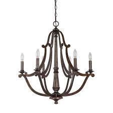 capital lighting corday collection 6 light rustic chandelier