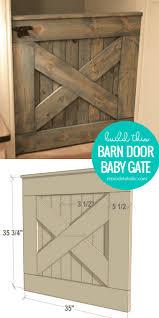 diy wooden barn door baby gate building