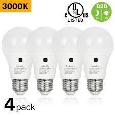 Dusk To Dawn Light Bulbs B Q Details About Hykolity 4 Pack 9w A19 Dusk To Dawn Led 60w Replacement 800lm 3000k Photocell Ul