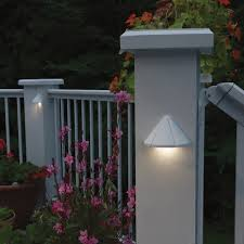 highlight lighting. sconce lighting on pillars and poles can highlight your fence area if you have plants l