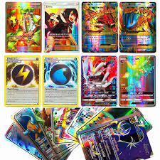 Takara TOMY Glänzende POKEMON Karten MEGA GX EX Energie Trainer 100 stücke  60 stücke Spielzeug für Kinder Energie Schlacht Spiel flash  Karte|Spiel-Sammelkarten