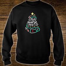 Picu Nurse Picu Nurse Crew Christmas Tree Pediatric Icu Nurse Squad Shirt