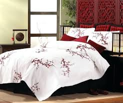 image of cherry blossom style king size comforter relax and escape bed set japanese bedding sets