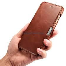icarer iphone 8 plus vintage series side open genuine leather case