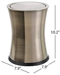 Bennettu0026quot;Swivel A Lidu0026quot; Small Trash Can, Stainless Steel Attractive  U0027
