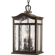 casual european style three light outdoor hanging lantern progress lighting