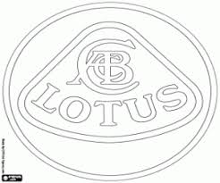 Kleurplaat Lotus Cars Logo Kleurplaten