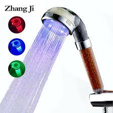 Zhang Ji <b>Shower SPA</b> 3 Color <b>LED</b> Light <b>shower</b> water Temperature ...