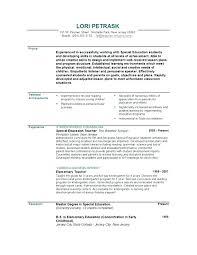 Resume Templates In Spanish Resume Of A Teacher Teacher Resumes