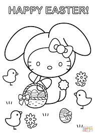 Small Picture Hello Kitty Happy Easter coloring page Free Printable Coloring Pages