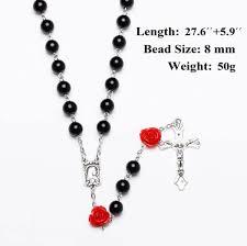 Wholesale <b>Fashion</b> Black Religious Simulated <b>Pearl Beads Rose</b> ...