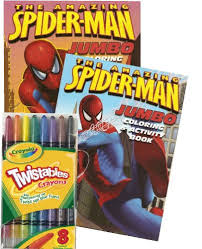 Coloring pages of the ultimate spiderman. Marvel Comics Spiderman Coloring Book Set With Crayola Twistable Crayons Educational Toys Planet
