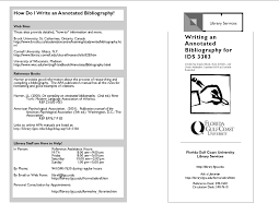 annotated bibliography using apa bibliography for essay
