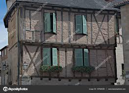 Fachwerk Haus Mit Grünen Fensterläden Stockfoto Wgcosby 137945320