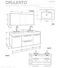 double sink measurements double sink size bathroom