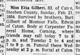 Etta Gilbert Obituary - Newspapers.com