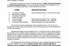 Examples Of Lettersmendation For Job Applicants College Entrance ...