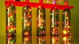 Lights For Wine Bottles Christmas Lights With Recycled Wine Bottles Recycling Project 4