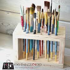 paint brush storage rack paint brush storage