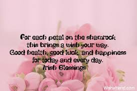 Quote For Today About Happiness For each petal on the shamrock Good Luck Quote 94