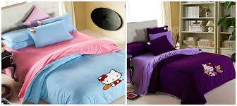 bed sheet designing lovely hello kitty bedding sets home designing