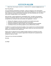Cover Letters For Administration 1 Administrative Coordinator