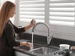 Touch kitchen faucets Sensate Touchless Elegant No Touch Kitchen Faucet For Kohler Fashionable Jeanneraponecom Jeanneraponecom Elegant No Touch Kitchen Faucet For Kohler Fashionable