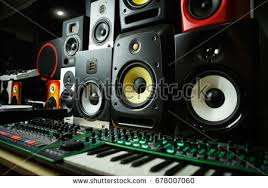 dj speakers clipart. dj shop with music loud speakers sale.buy hifi sound system for recording studio clipart