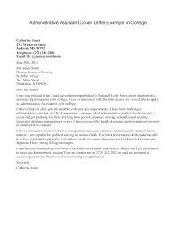 Cover Letter Sample College Student Cover Letter Examples For ...