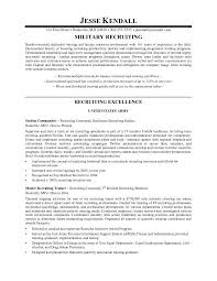 example military recruiter resume   free sample