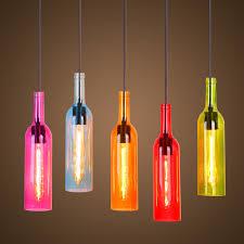 bottle lighting. Glass Bottles Pendant Lamp Colorful Hanging Bottle Light E27 Holder Droplight For Restaurant Bar Dining Lighting I