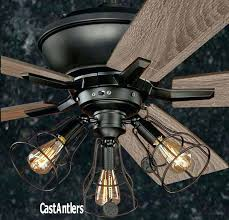 flush mount caged ceiling fan. Flush Mount Caged Ceiling Fan With Light Dustrial
