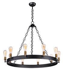 maxim 26275bknab noble 10 light 38 inch black natural aged brass chandelier ceiling light