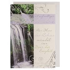 Trauerkarte Wasserfall Mit Spruch