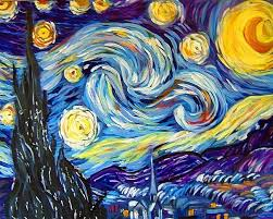 reion van gogh starry night by judith d porto from one word concept scintillating art exhibit