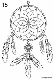 Drawn Dream Catchers How to Draw a Dreamcatcher Step by Step Cool100bKids 3