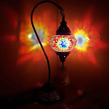 turkish moroccan lamp glass desk table lamps