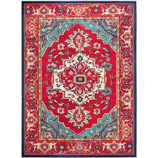 safavieh monaco red turquoise 11 ft x 15 ft area rug