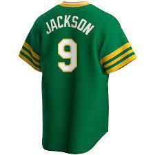 Men's Nike Reggie Jackson Kelly Green ...