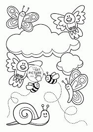 Spring Coloring Pages Free Printable Saglikme