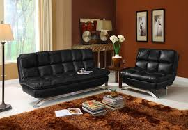 appealing black faux leather futon with black faux leather futon 441
