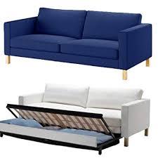ikea karlstad sofa bed slipcover blue