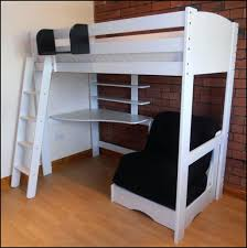 full loft bed with futon underneath size desk and chair 1 beds