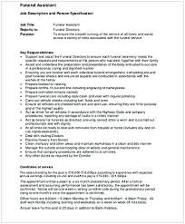 funeral director resume mortician job description cycling studio