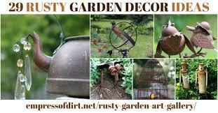 29 rusty garden junk art ideas