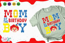 Design is delivered as a digital download in a zip file. Mom Of The Birthday Boy Circus Party Svg For Crafters 194921 Cut Files Design Bundles