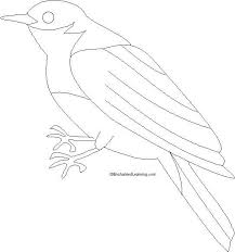 Eastern Bluebird Cute Coloring Pages Print Coloring